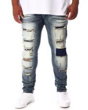 SMOKE RISE - Cut & Sew Denim Jeans (B&T)-2646361