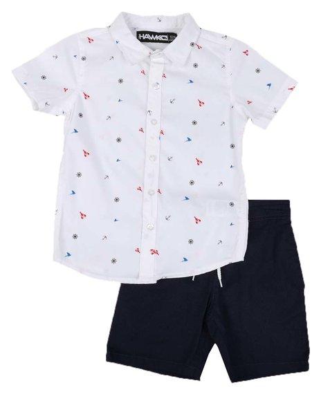 Tony Hawk - 2 Pc All Over Print Woven Shirt & Pull On Shorts Set (4-7)