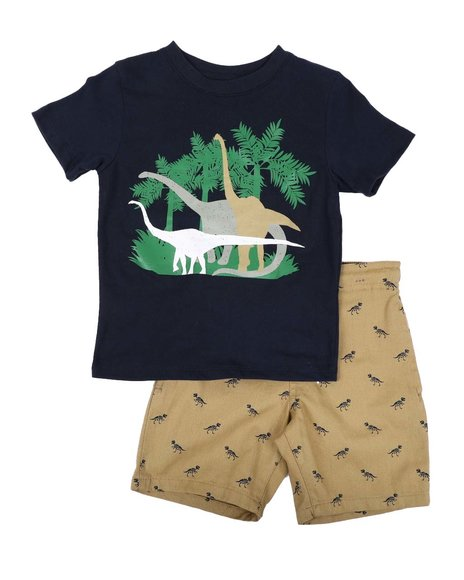 Tony Hawk - 2 Pc Dinosaur Tee & shorts Set (4-7)