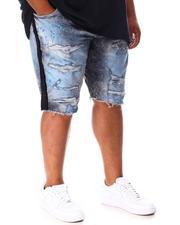 Jordan Craig - Rhinestone Side Trim Distressed Denim Shorts (B&T)-2648458