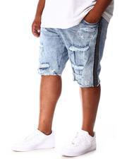 Jordan Craig - Rhinestone Side Trim Distressed Denim Shorts (B&T)-2648443
