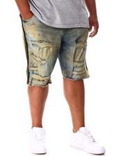 Jordan Craig - Rhinestone Side Trim Distressed Denim Shorts (B&T)-2648453