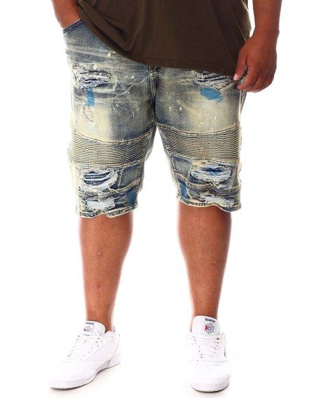 Makobi - Paint Splatter Distressed Denim Shorts (B&T)