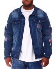 Men - Rip & Repair Bandana Denim Jacket (B&T)-2648596
