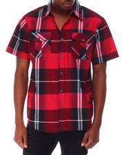 Buyers Picks - Window Pane Plaid S/S Woven Shirt-2650220