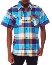 Buyers Picks - Triple Box Plaid SS Woven Shirt-2650226
