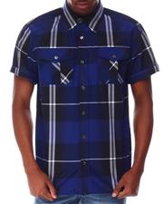 Buyers Picks - Window Pane Plaid S/S Woven Shirt-2649468