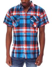Buyers Picks - Triple Box Plaid SS Woven Shirt-2649484