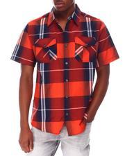 Buyers Picks - Window Pane Plaid S/S Woven Shirt-2649489