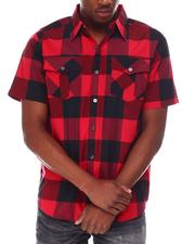 Buyers Picks - Yarn Dyed Plaid Short Sleeve Shirt-2650208