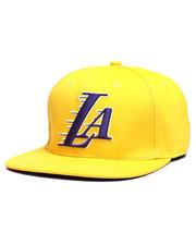 Pro Standard - Los Angeles Lakers Wordmark Logo Snapback Hat-2648629