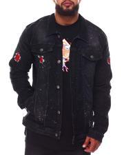 Buyers Picks - Paint Splatter Backed Rip Denim Jacket (B&T)-2648588
