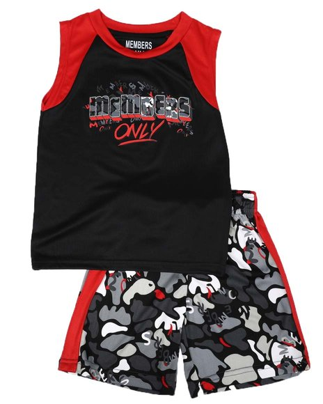 Members Only - 2 Pc Color Block Tank & Shorts Set (2T-4T)