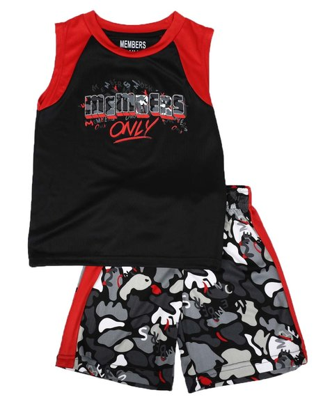 Members Only - 2 Pc Color Block Tank & Shorts Set (4-7)