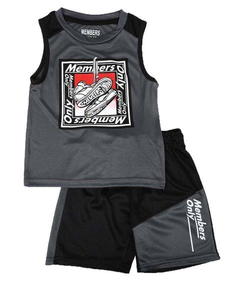 Members Only - 2 Pc Name Tag Tank & Mesh Shorts Set (4-7)