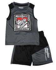 Sets - 2 Pc Name Tag Tank & Mesh Shorts Set (2T-4T)-2649117