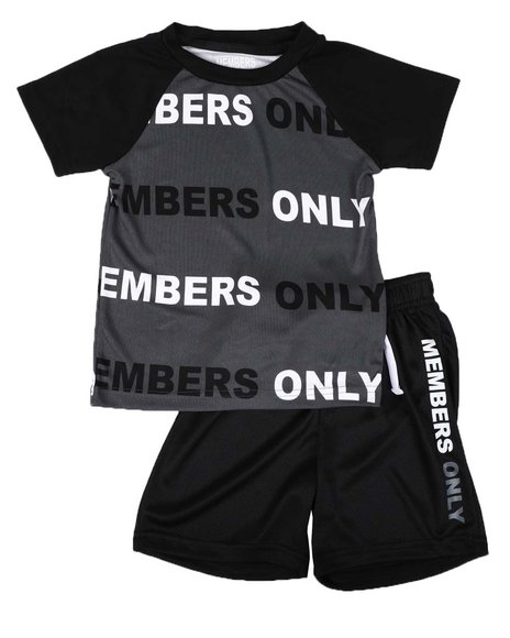 Members Only - 2 Pc Printed Color Block Tee & Shorts Set (4-7)