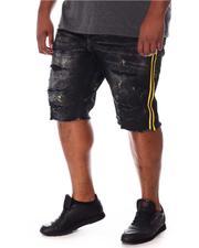 Jordan Craig - Paint Splatter Side Stripe Distressed Denim Shorts (B&T)-2649759