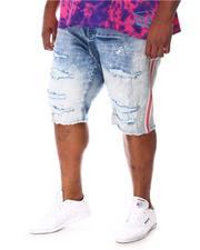 Jordan Craig - Paint Splatter Side Stripe Distressed Denim Shorts (B&T)-2649778