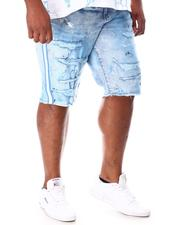 Jordan Craig - Paint Splatter Side Stripe Distressed Denim Shorts (B&T)-2649764
