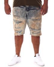 Jordan Craig - Paint Splatter Side Stripe Distressed Denim Shorts (B&T)-2649773