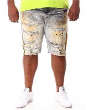 Jordan Craig - Paint Splatter Side Stripe Distressed Denim Shorts (B&T)-2649754