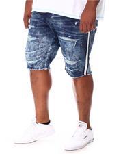 Jordan Craig - Paint Splatter Side Stripe Distressed Denim Shorts (B&T)-2649783
