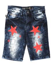 Akademiks - Star Print Denim Shorts (4-7)-2648695