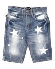 Akademiks - Star Print Denim Shorts (4-7)-2648700