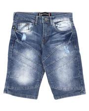 Bottoms - Cut & Sew Denim Shorts (8-18)-2648705