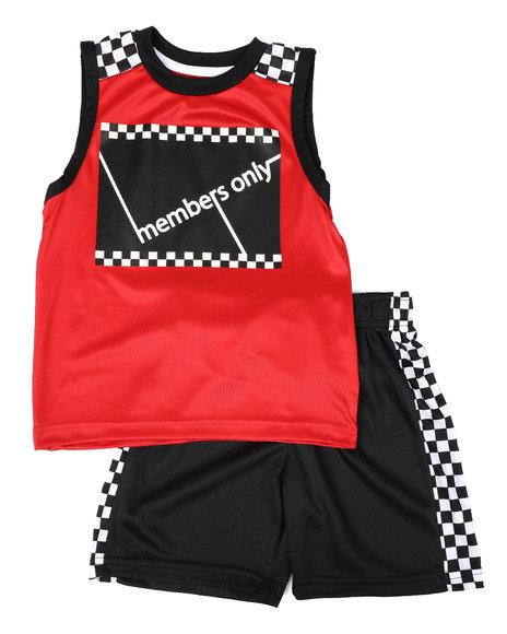 Members Only - 2 Pc Checkered Print Tank & Shorts Set (4-7)