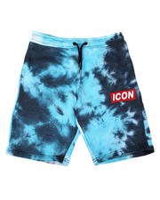 Bottoms - Icon Tie Dye Fleece Shorts (8-18)-2649168