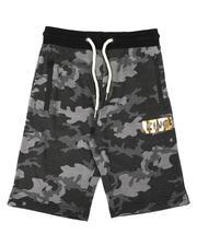 Bottoms - King Hologram Logo Tonal Camo Interlock Shorts (8-18)-2649177