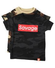 Arcade Styles - 2 Pack Hustle/Savage Camo T-Shirts (2T-4T)-2649281