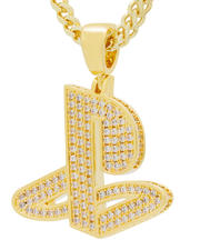 Jewelry & Watches - Playstation x King Ice - Classic PS Logo Necklace (Gold)-2651502