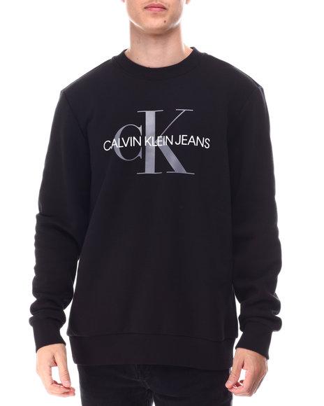 Calvin Klein - LONG SLEEVE MONOGRAM CREW SWEATSHIRT