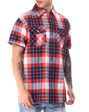 Buyers Picks - Yarn Dyed Box Plaid Plaid S/S Woven Shirt-2650804