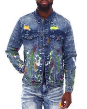 Outerwear - Artist Paint Blot Denim Jacket-2653717