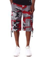 Men - Washed City Camo Belted Cargo Shorts-2650953