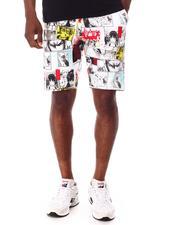 Shorts - Aop Comic Fleece Shorts-2652815