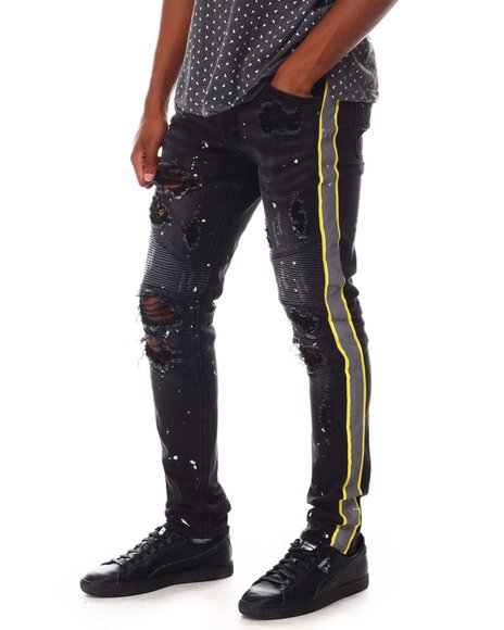 KDNK - Moto Jean with Safety Tape