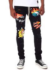 Jeans & Pants - Drawstring Jean with Graffiti-2653686