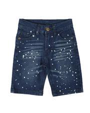 Shorts - Bleach Splatter Denim Shorts (4-7)-2651225