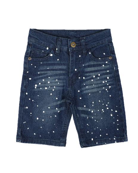 Arcade Styles - Bleach Splatter Denim Shorts (4-7)