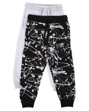 Arcade Styles - 2 Pack Printed & Solid Jogger Pants Set (4-7)-2651250