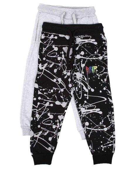 Arcade Styles - 2 Pack Printed & Solid Jogger Pants Set (4-7)