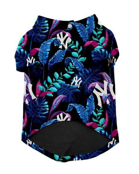 Fresh Pawz - New York Yankees x Fresh Pawz Hawaiian Button Up