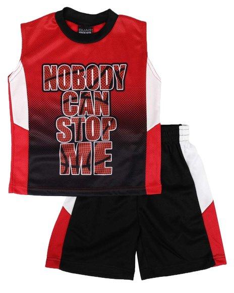 Arcade Styles - 2 Pc Graphic Tank & Mesh Pieced Shorts Set (8-18)