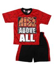 Sets - 2 Pc Graphic Tee & Mesh Pieced Shorts Set (8-18)-2654120