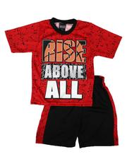Arcade Styles - 2 Pc Graphic Tee & Mesh Pieced Shorts Set (4-7)-2654133